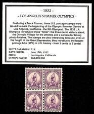 1932 - LOS ANGELES OLYMPICS - Vintage Mint -MNH- Block of Four Postage Stamps