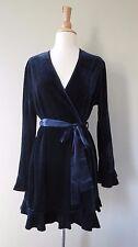 Flora by Flora Nikrooz Navy blue velvet short robe L/XL