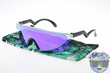 Oakley RazorBlades OO9140-13 Sunglasses Clear + Black with Violet Iridium Lens