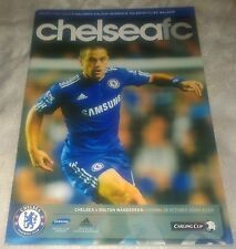 Chelsea fc vs Bolton Wanderers matchday programme 28/12/2009 Carling Cup