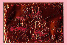 """BABY ANGEL""  by RUTH FREEMAN  Engraved Copper Foil 8"" X 10"" WITH MAT"