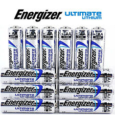 12 x ENERGIZER AA ULTIMATE  LITHIUM BATTERIES LR6 L91 MN1500 1.5v LONG EXPIRY
