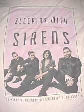 Sleeping With Sirens 28.4158 Degree North Rock Pink Graphic Girls T-shirt L