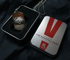 Metal Gear Solid V The Phantom Pain Two Sided Fox Diamond Dogs Logo Tag Necklace