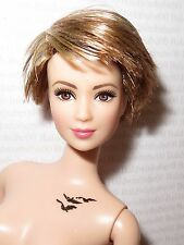 *NUDE BARBIE ~STRAWBERRY BLONDE ARTICULATED INSURGENT TRIS LEA DOLL FOR OOAK