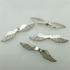 18599 30pcs Dull Silver Moustache Wings for Spacer Pendant Jewelry Accessories