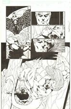 Exiles #55 p.16 - Wendigo - 2005 Signed art by Jim Calafiore & Mike McKone