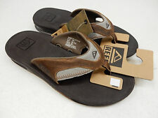 REEF MENS SANDALS LEATHER FANNING BROWN BROWN SIZE 12