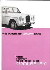 BMC WOLSELEY HORNET, 1300 & 1100 MkII, 16/60, 18/85 AND 6/110 BROCHURE 1967 1968