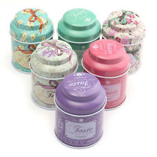 Flower Design Metal Sugar Coffee Tea Tin Jar Container Candy Sealed Cans Box EW
