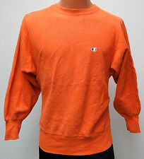 vtg BRIGHT ORANGE Champion Reverse Weave 90s Sweatshirt M MED Warmup usa