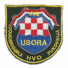CROATIA ARMY - HVO   110 HOMELAND REGIMENT - USORA , embroidered war time patch