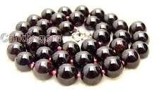 "SALE Big 13-14mm Round High quality natural garnet gemstone Beads 15"" strand-147"