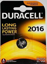 5 x Duracell CR2016 3V Lithium Coin Cell Batteries- Best Before 2024- BRAND NEW