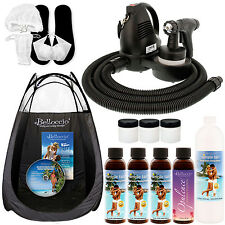 Sunless Airbrush HVLP SPRAY TANNING SYSTEM Kit Simple Tan 12% Solution Tent DVD