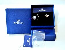Swarovski Iconic Golden Swan Pierced Earrings 5215037 Authentic Brand New In Box