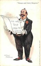 POSTCARD  COMIC   MUSIC  Related  Songs and their  singers    A Moreland  II