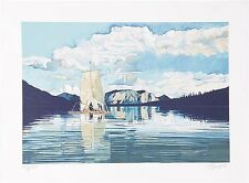 "Fran Bull ""Yukon Raft"" 1980. L/E Serigraph - Hand-signed/numbered"