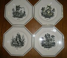 4 Seasons Plates Villeroy and Boch Mettlach Henri Mouxin 1827 - Rare collector