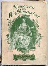 Mémoires sur Mme de Pompadour Modern-collection historique et anecdotique Fayard