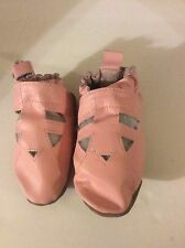 Robeez Pink  Fisherman's Sandal style Soft Crib Shoes 12-18 months