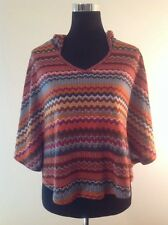 Room Mates Anthropologie Free People Sz M NWOT Fall Festive Hoodie Poncho