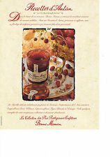 PUBLICITE  1999   BONNE MAMAN  confiture les recettes d' ANTAN