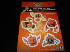 3 LOT POKEMON PLATINUM STICKER SHEET TOYS R US PROMO EVENT 2009 RARE ROTOM GO