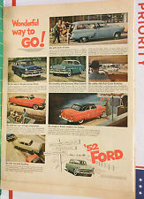 Vintage 1952 magazine ad for Ford color photos of '52 Fords, Wonderful Way to Go