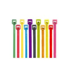 """Colored Cable Ties, 40#, 5 1/2"""", Fluorescent Orange, 1000/Case"""