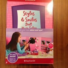 NEW AMERICAN GIRL STYLES & SMILES DOLL HAIR SALON SET *NIB*NRFB*RARE*NO DOLL*