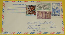 Spain 1960s Envelope with 4 Stamps – 6-Sided Fortress Great Graphics! Nice SEE!