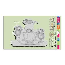 HOUSE MOUSE RUBBER STAMPS CLING COFFEE CRAZY NEW CLING STAMP