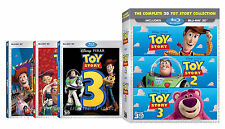 Toy Story 1 2 3 Trilogy Complete Disney Pixar Collection BluRay 3D Box Sets NEW!