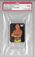 HULK HOGAN 1987 WWF Hostess Wrestling MUNCHIES STICKER Card WCW WWE PSA MINT 9