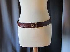 ceinture vintage pierre cardin croco véritable taille 85