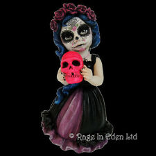 CATRINAS CALL Goth Day Of The Dead Fantasy Skull Art Cos Play Kid Resin Figurine