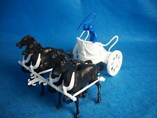 Marx reissue Ben Hur playset Roman chariot in White with driver + 4 horses