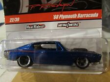 Hot Wheels Phil's Garage Real Riders Tires '68 Plymouth Barracuda #22 of 39 Blue
