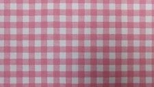 iLiv Gingham Pink Check Curtain Upholstery Craft Designer Cotton Fabric