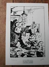 Olivier SAIVE : Chaminou - ex-libris numéroté & signé - Charleroi BD & Ciné 1995