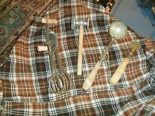 Vintage A&J MIXER BLENDER ICE CREAM SCOOP MEAT HAMMER LOT OF 4 W/ Wood Handles