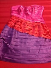 Max and Cleo Tier Strapless Dress Size 8