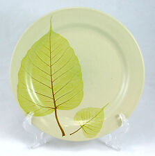 Pier 1 ASPEN Dinner Plate 10.5 in. Yellow Green Leaves Cream Body Stoneware