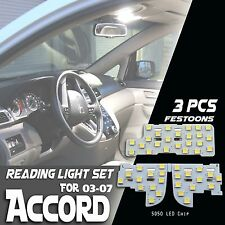 2003-2007 Accord High Power White LED Light Bulbs Reading Map/Dome Package Kit