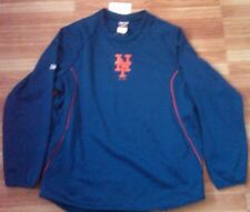 New Rare Vtg Majestic authentic New York Mets MLB player warmup jacket sweater L