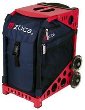 "Zuca ""Mignight - Navy"" Insert Bag with Red Frame - Perfect School Bag!"