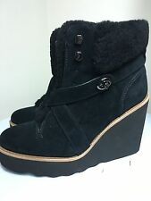 NEW Coach Kenna Black Wedge Boot - Size 6 M