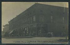Sharp MI Camden RPPC 1911 CORNER of MAIN & MAPLE STREET Alward's Vehicle Store
