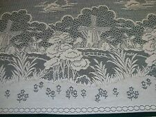 "NEW ONE PANEL LACE CROCHET MACRAME CURTAIN HOLLAND WINDMILL IVORY 45"" x 59"" long"
